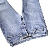 Blue jeans detail Royalty Free Stock Photos