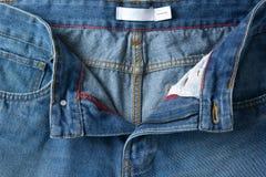 Blue Jeans-Details im Vordergrund stockfotos