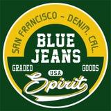 Blue jeans di progettazione Fotografie Stock