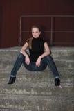 Blue jeans di Redhead Fotografia Stock Libera da Diritti