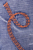 Blue jeans with embroidery Royalty Free Stock Image