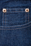 Blue jeans fabric with pocket Royalty Free Stock Photo