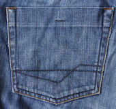 Blue jeans fabric with pocket as background Stock Photography