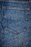 Blue jeans fabric with pocket Royalty Free Stock Image