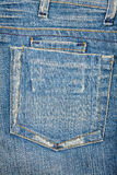 Blue jeans fabric with pocket Stock Image