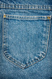 Blue jeans fabric with pocket Royalty Free Stock Photos