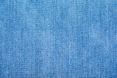 Blue jeans fabric with texture Royalty Free Stock Images