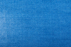 Blue jeans fabric with texture Stock Photography