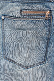 Blue jeans fabric with zipper Stock Photos
