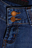 Blue jeans. Fly and button Royalty Free Stock Photos