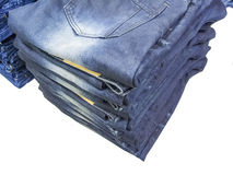 Blue jeans folded Stock Photography