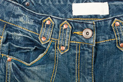 Blue jeans front Stock Images