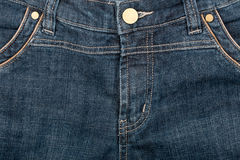 Blue jeans front Stock Photography