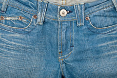 Blue jeans front Stock Photo