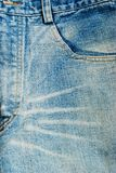 Blue jeans front view background texture Royalty Free Stock Photos