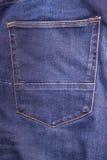 Blue Jeans-Gesäßtasche als Abschluss oben Lizenzfreies Stockbild