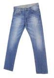 Blue Jeans getrennt auf weißem Hintergrund Stockfotografie
