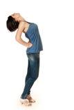 Blue jeans girl Stock Photos