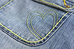 Blue jeans heart Stock Photos