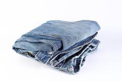 Blue Jeans im whitebackground Lizenzfreie Stockbilder