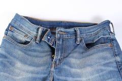 Blue Jeans im whitebackground Lizenzfreies Stockfoto