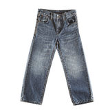 Blue jeans isolated Stock Image