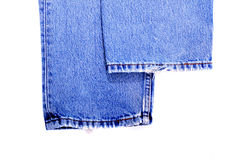 Blue jeans on isolated background Royalty Free Stock Image