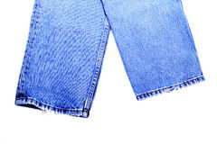 Blue jeans on isolated background Stock Image