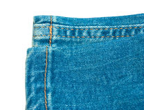 Blue jeans isolated Royalty Free Stock Images