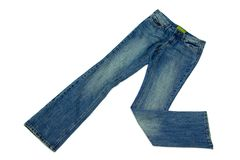 Blue jeans isolated on white Stock Photography
