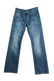 Blue  jeans isolated on white Royalty Free Stock Photo