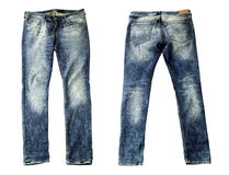Blue Jeans Isolated. On White Stock Image
