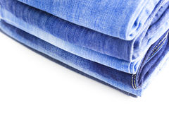 Blue Jeans isolated on white background Royalty Free Stock Photos