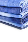 Blue Jeans isolated on white background Stock Photo