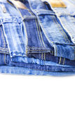 Blue Jeans isolated on white background Stock Images