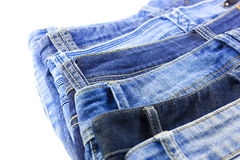 Blue Jeans isolated on white background Stock Image