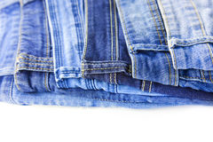 Blue Jeans isolated on white background Stock Photography