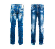 Blue jeans isolated Royalty Free Stock Image