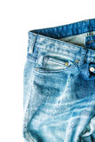 The blue jeans. The blue jeans isolated on white background royalty free stock photo
