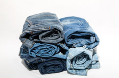 Blue Jeans isolated on white background Royalty Free Stock Photography