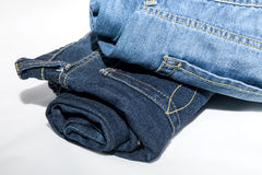 Blue Jeans isolated on white background Royalty Free Stock Photo