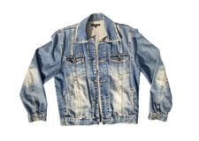 Blue jeans jacket Stock Image