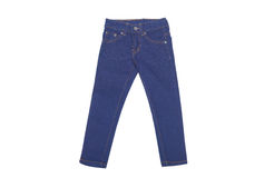 Blue jeans. For kids isolated Stock Photos