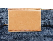 Blue Jeans Label Royalty Free Stock Photos