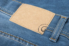 Blue jeans label Stock Photos
