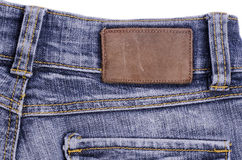 Blue jeans. Label royalty free stock image