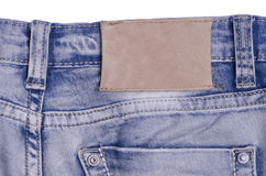 Blue jeans. Label stock images