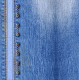 Blue jeans with lacing Royalty Free Stock Photo