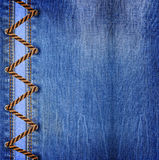 Blue jeans with lacing Stock Photography