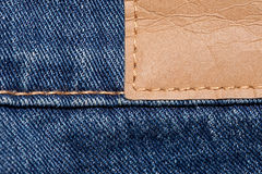 Blue Jeans with leather Stricker Stock Images